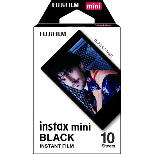 Fujifilm Instax Mini 11 Polaroid Ice Blue Instant Camera Plus Original Fuji Case, Photo Album and Fujifilm Character 10 Films (Black)