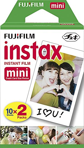 Fujifilm Instax Mini Instant Film, (10 Pack = 100 Sheets) For Fujifilm Mini 9 or Mini 8 Camera + 5 Colored Frames + 20 Assorted Colorful Sticker Frames + Microfiber cloth by Quality Photo