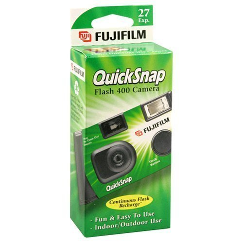 Fujifilm QuickSnap Flash 400 Disposable 35mm Camera + Quality Photo Microfiber Cloth (5 Pack)