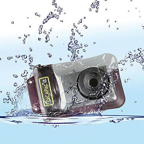 DicaPac WP410 (10.5x16.0cm) Small Zoom Alfa Waterproof Digital Camera Case with Optical Lens (Clear)