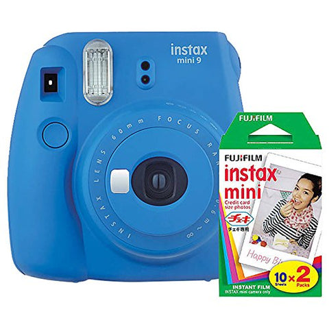 Fujifilm Instax Mini 9 Instant Camera with Mini Film Twin Pack