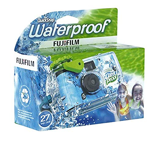 Fujifilm Quick Snap Waterproof 27 exposures 35mm Camera 800 Film, 1 Pack + Quality Photo Microfiber Cloth