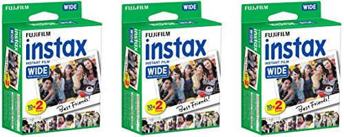 Fujifilm Instax Wide 300 Instant Film Camera + instax Wide Instant Film, 60 Sheets + Extra Accessories : Gateway