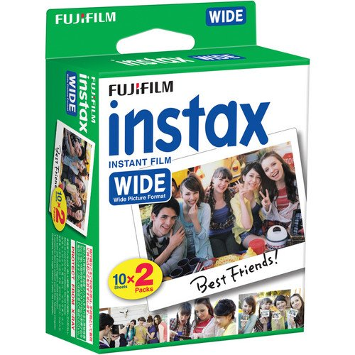 Fujifilm instax Wide Instant Film for Fujifilm instax Wide 300, 200, and 210 cameras w/ Microfiber Cloth by Quality Photo (40 Exposures)