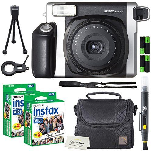Fujifilm Instax Wide 300 Instant Film Camera + instax Wide Instant Film, 40 Sheets + Extra Accessories : Gateway