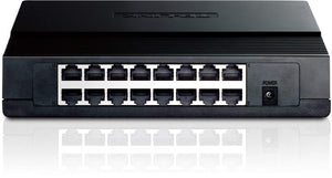 TP-Link TL-SF1016D 16-Port Unmanaged 10/100Mbps Desktop Switch (Certified Refurbished)