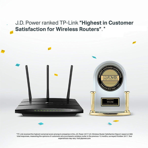 TP-Link AC1750 Smart WiFi Router-5GHz Dual Band Gigabit Wireless Internet Routers for Home, Parental Control&QoS(Archer A7) (Certified Refurbished)
