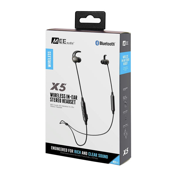 MEE audio X5 Bluetooth Wireless Noise-Isolating In-Ear Stereo Headset (Certified Refurbished)