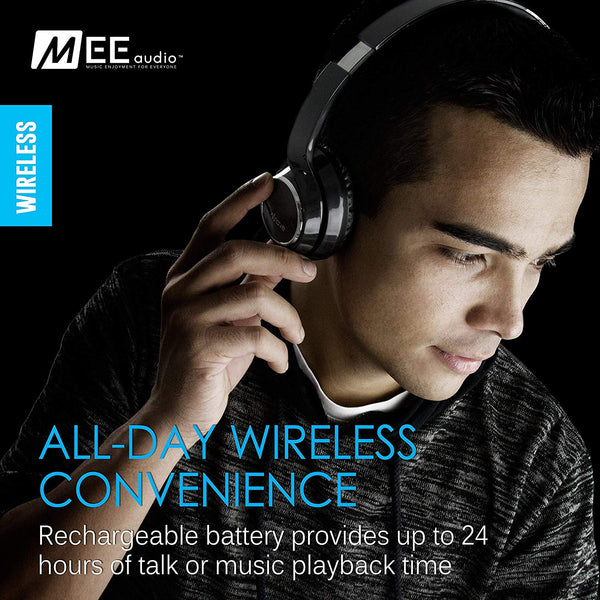 MEE audio Wave Bluetooth Wireless On-Ear Headphones with Headset Functionality (Certified Refurbished)