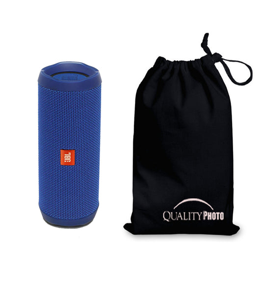 JBL Flip 4 Bluetooth Portable Stereo Speaker + Ultra Soft Quality Photo Black Pouch