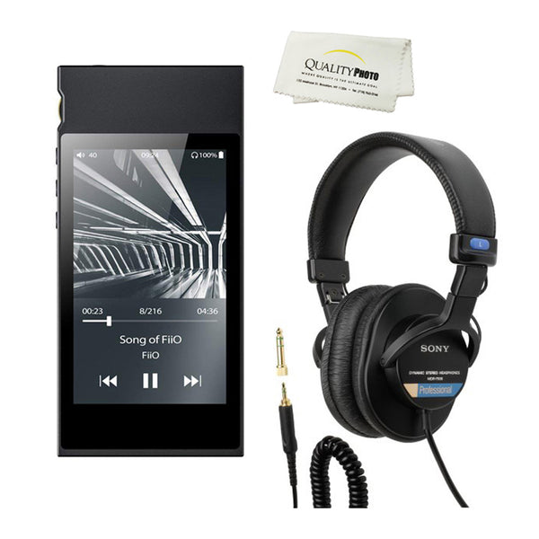 High-Resolution Lossless Fiio Audio Player with Samsung Exynos 7270 Processor Bundle (Black)