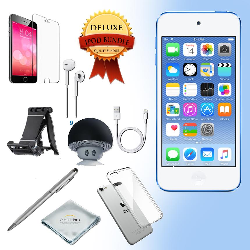 Apple Ipod touch 6th generation 32GB  - Bluetooth Speaker - Case - Screen Protector - Stand - Stylus Pen - Cloth