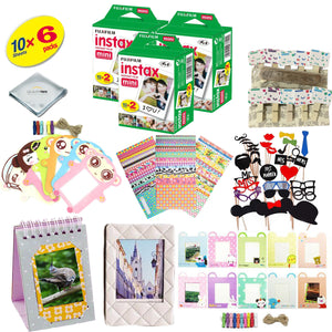 Fujifilm instax mini 9 Camera Accessory KIT includes - Fuji Instant Film 40 SHEETS + Premium Over 60 PCS bundle for fujifilm instax mini 9 Films