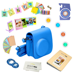 Quality Photo Instant Camera 12-Piece Accessories Kit Bundle -Cobalt Blue- Compatible For Fujifilm Instax Mini 8 & Mini 9 Camera