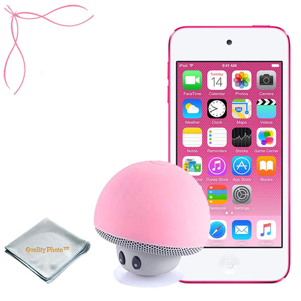 Apple iPod Touch 32GB (6th Generation) - Mushroom Bluetooth Wireless Speaker/iPod Stand - Quality Photo Cloth