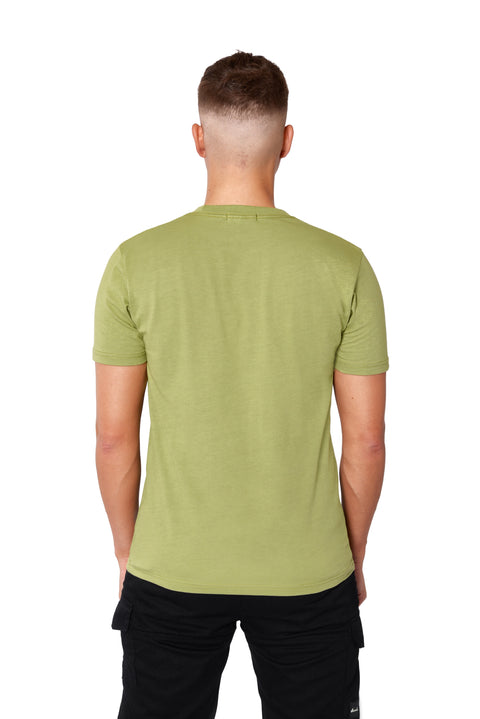 THE FITTED LOGO TEE - GREEN