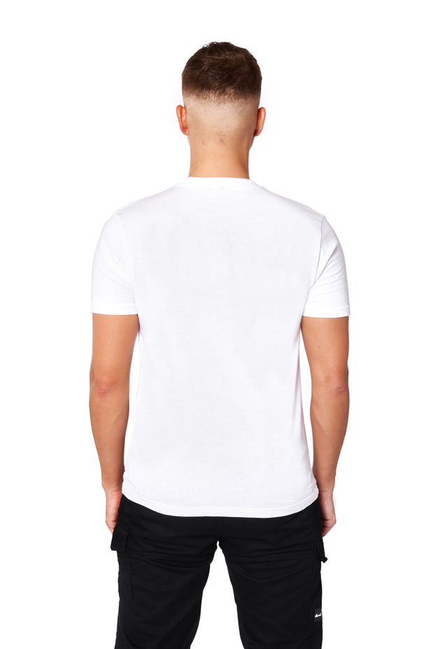 THE FITTED LOGO TEE - WHITE