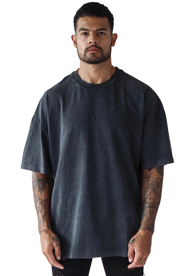 THE STONE STITCH TEE - BLACK