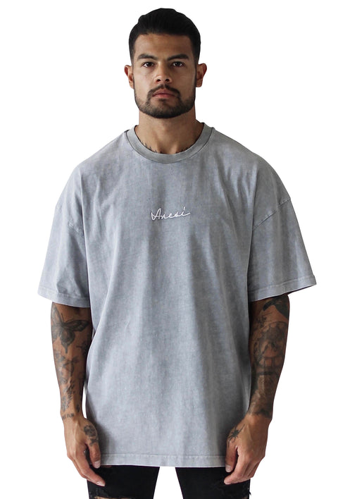 THE STONE SLIT TEE - GREY