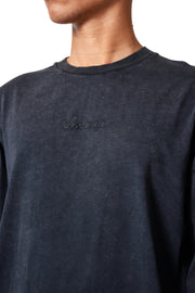 THE STONE LONG SLEEVE TEE - BLACK
