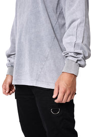 THE STONE LONG SLEEVE TEE - GREY