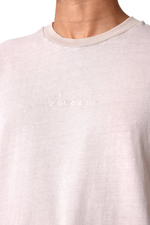 THE STONE STITCH TEE - PINK