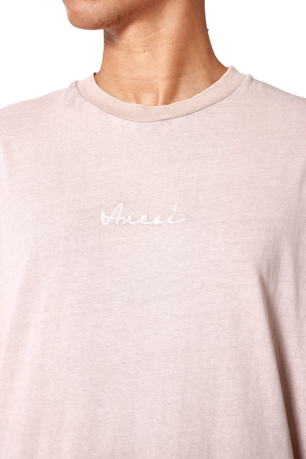THE STONE SLIT TEE - PINK