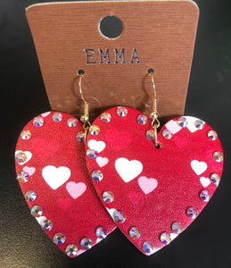Heart Gem Earrings