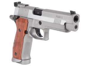 SIG Sauer P226 X-Five .177 CO2 Pistol, Silver/Wood Grips by SIG Sauer