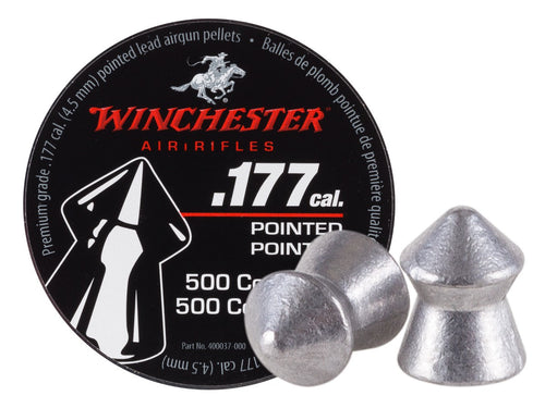 Winchester .177 Cal Pellets, Pointed, 8.5 Grains, 500ct