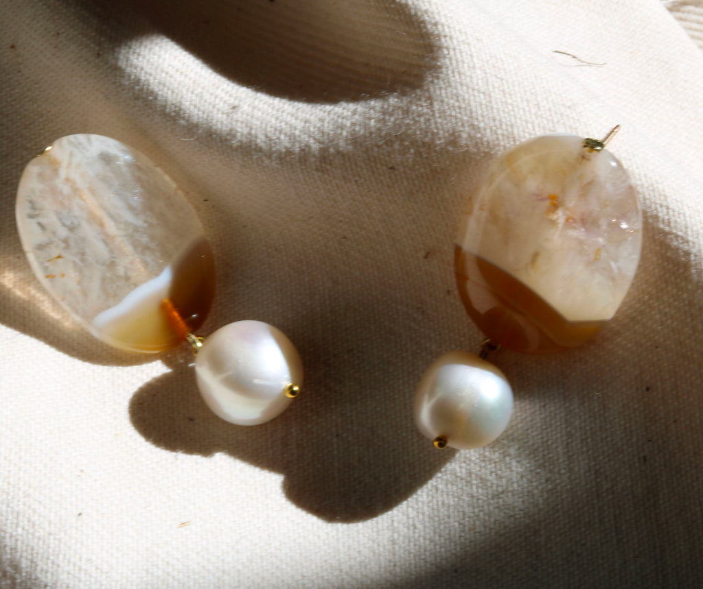 Two-Tone Quartz Drops