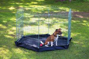 6 Sided Steel Pet Pen with fabric Base