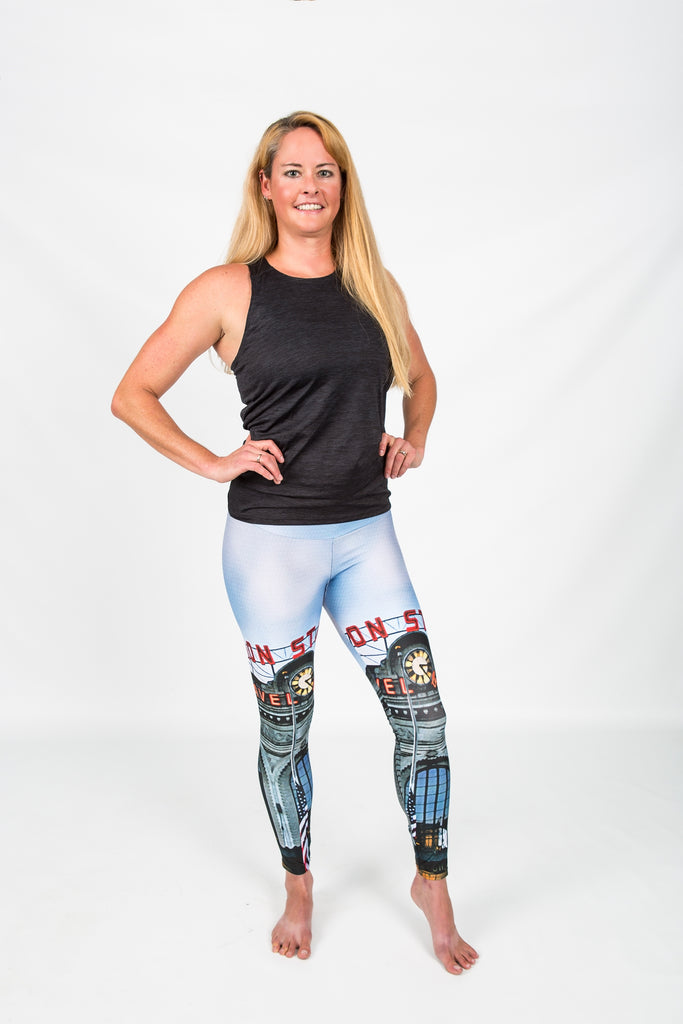 Women's leggings made in Colorado - Monumental  - Union Station - 4