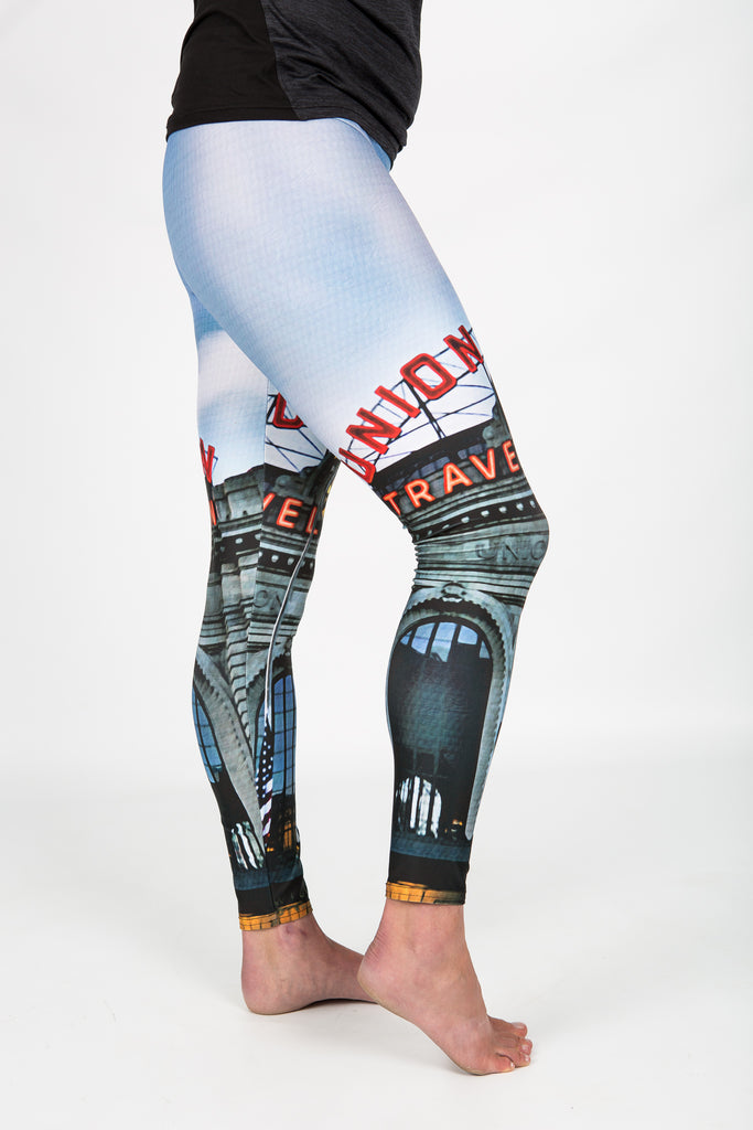 Women's leggings made in Colorado - Monumental  - Union Station - 2