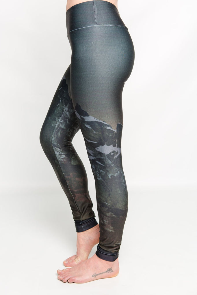 Women's leggings made in Colorado - Illuminate - Left Side 2