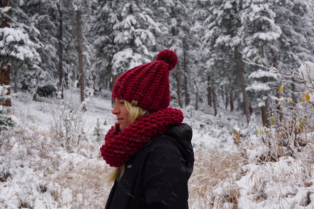 Cranberry Wool Scarf made in Colorado