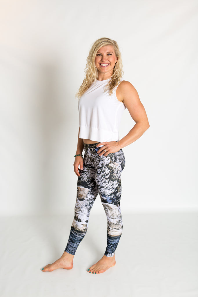 Women's leggings made in Colorado - Momentum - Snake River - 5