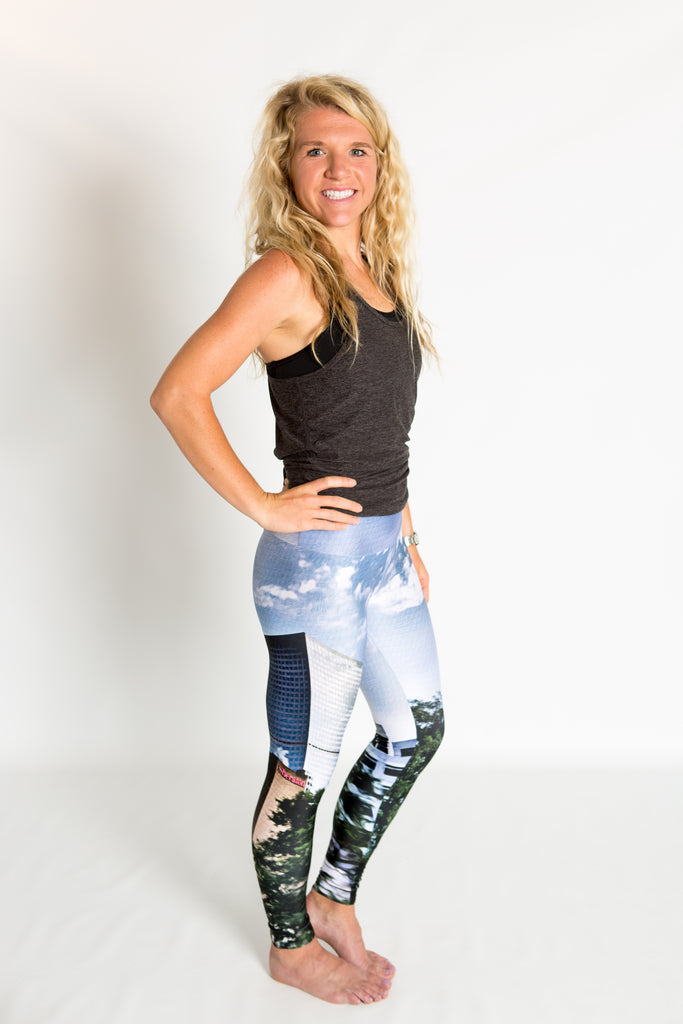 Women's leggings made in Colorado - Progression - Downtown Denver - 4