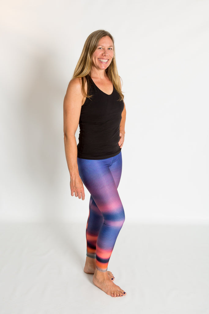 Women's leggings made in Colorado - Transform - Sunset - 5