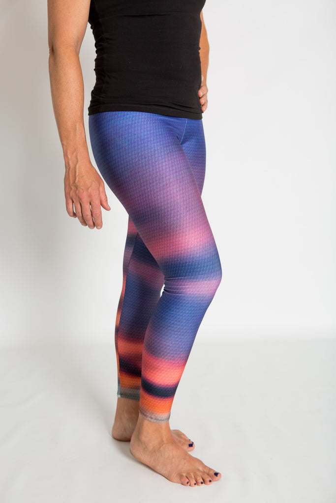 Women's leggings made in Colorado - Transform - Sunset - 1