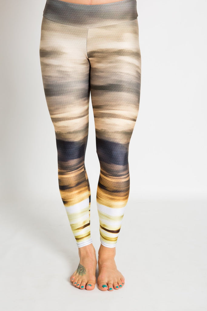 Women's leggings made in Colorado - Persistence - Moab Sunset - 3