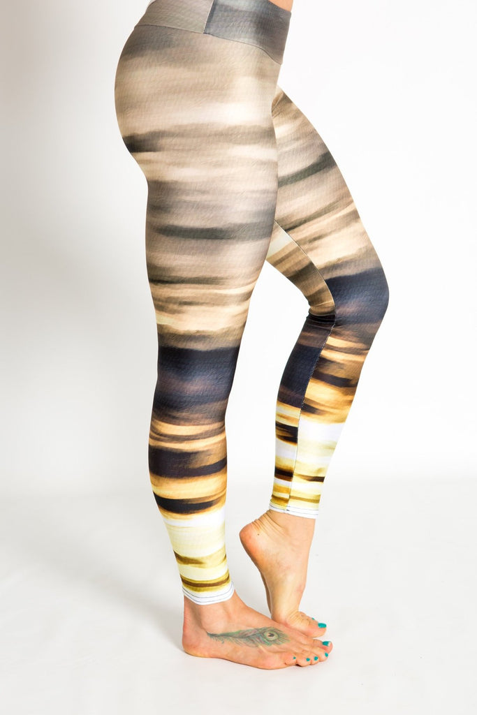 Women's leggings made in Colorado - Persistence - Moab Sunset - 1