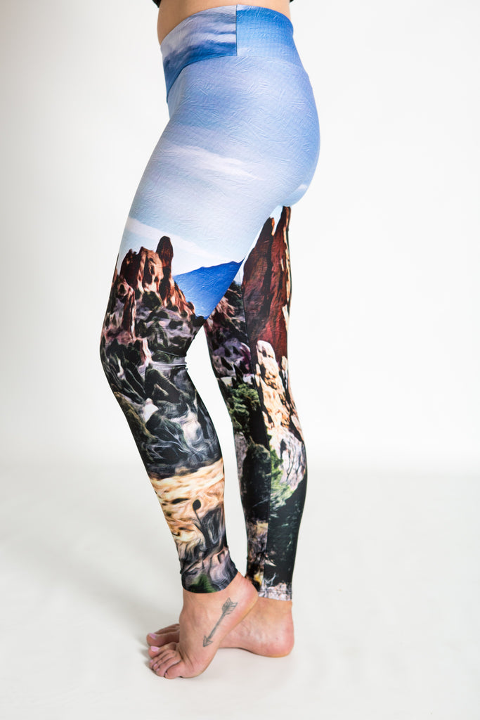 Women's leggings made in Colorado - Endurance - Garden of the Gods - 3