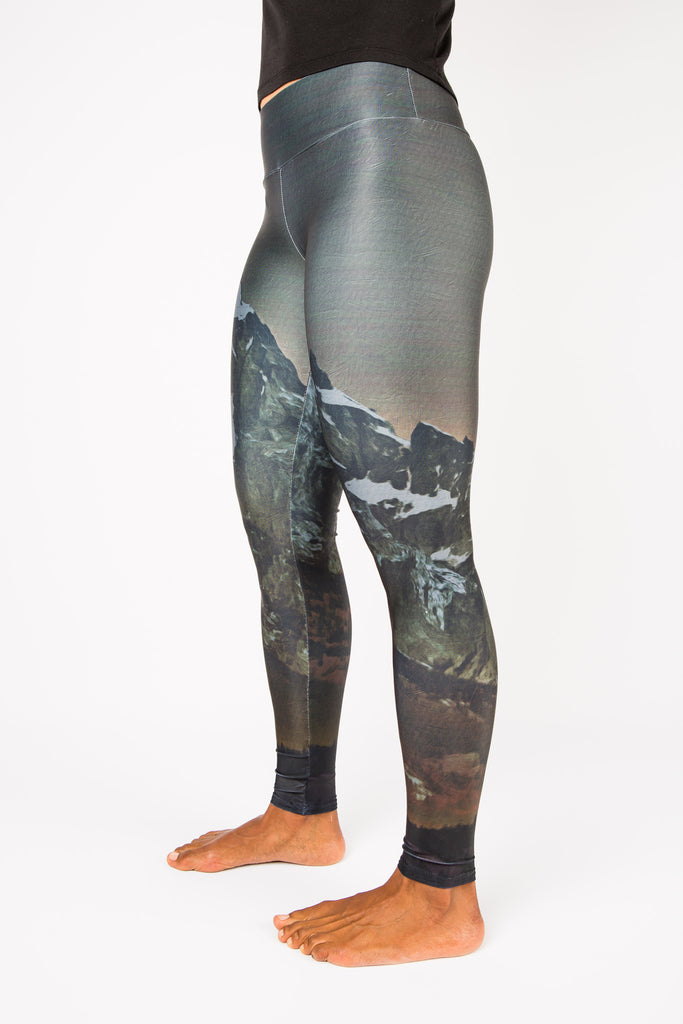 Women's leggings made in Colorado - Illuminate- Left Side