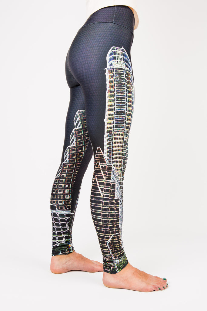 Women's leggings made in Colorado - Eccentric - Right Side