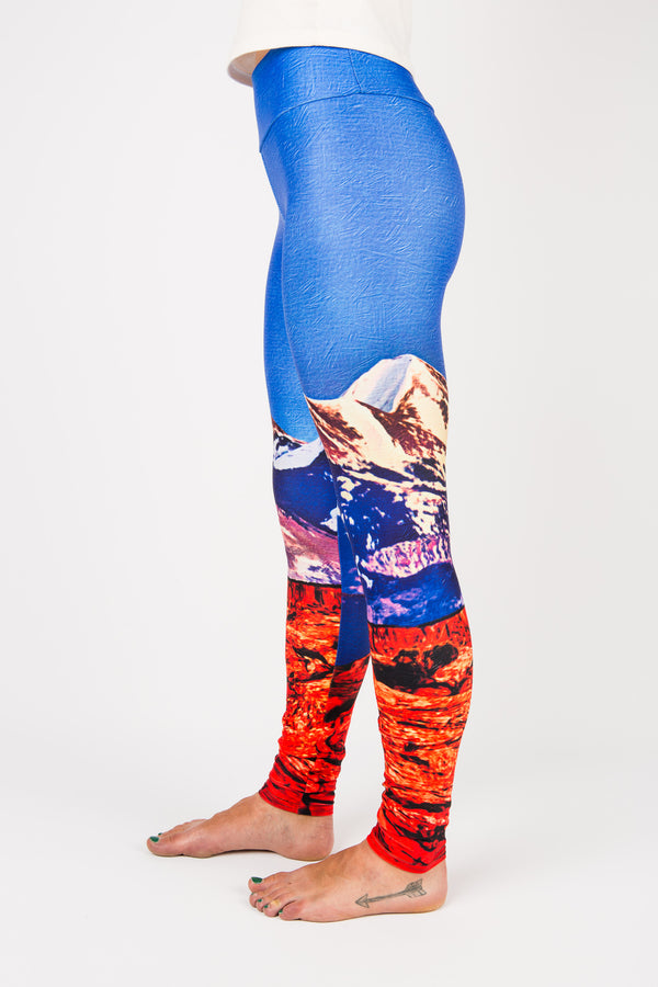 Women's leggings made in Colorado - Influence - Left Side