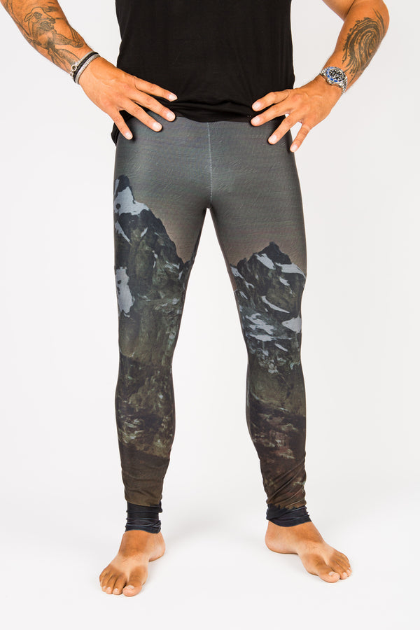 Men's leggings made in Colorado - Illuminate - Front