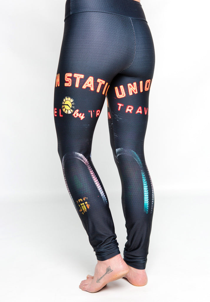 Women's leggings made in Colorado - Monumental  - Union Station Night - 4