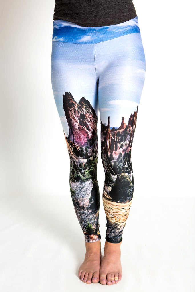 Women's leggings made in Colorado - Endurance - Garden of the Gods - 1