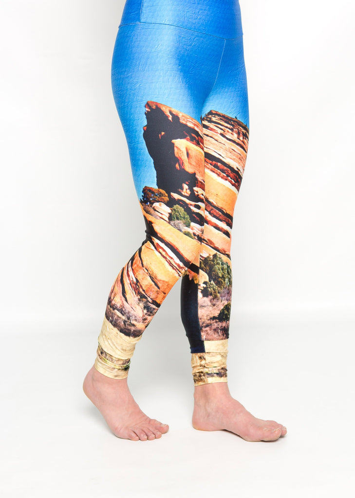 Women's leggings made in Colorado - Fearless - Red Rocks - 2